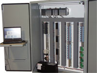 PLC panel with ups and opperator shelf station